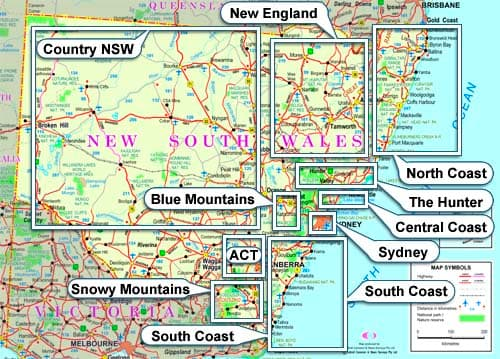 NSW Organised Tours Map