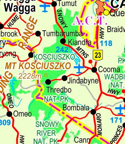 NSW Ski Fields Map