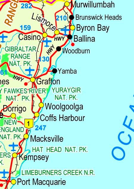North Coast NSW Map