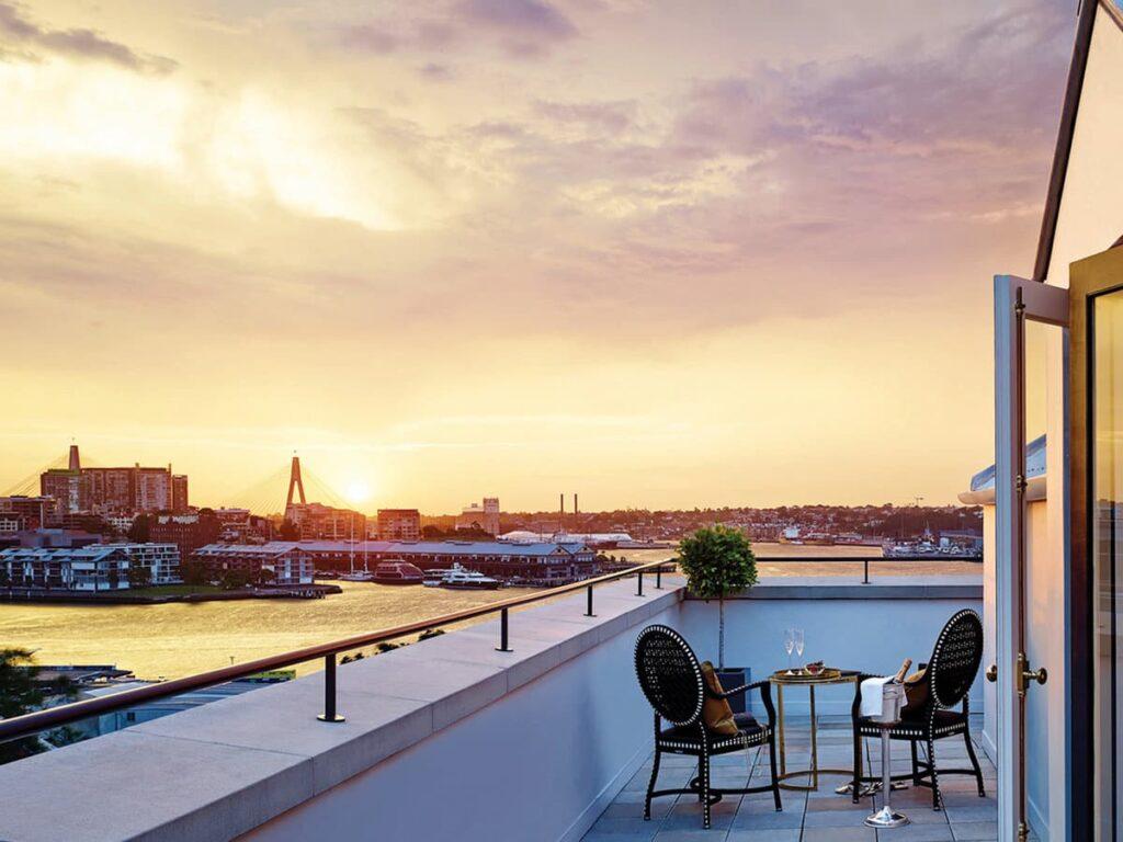 The Langham Sydney Balcony Sunset